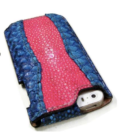 エイ革の特注iPhoneケース