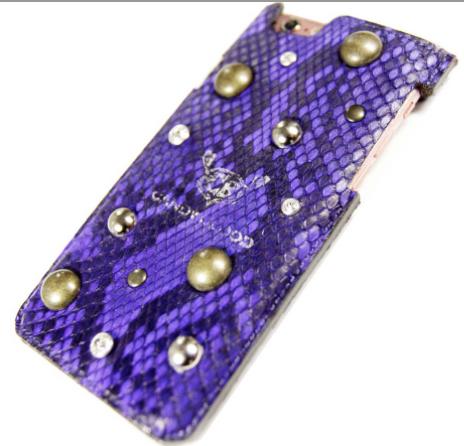 紫蛇革iPhoneケース