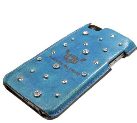 革のスワロフスキーiPhoneケース