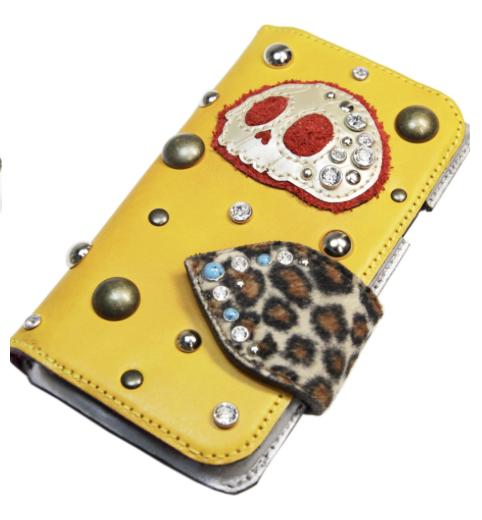 特注手帳型スカルiPhoneケース