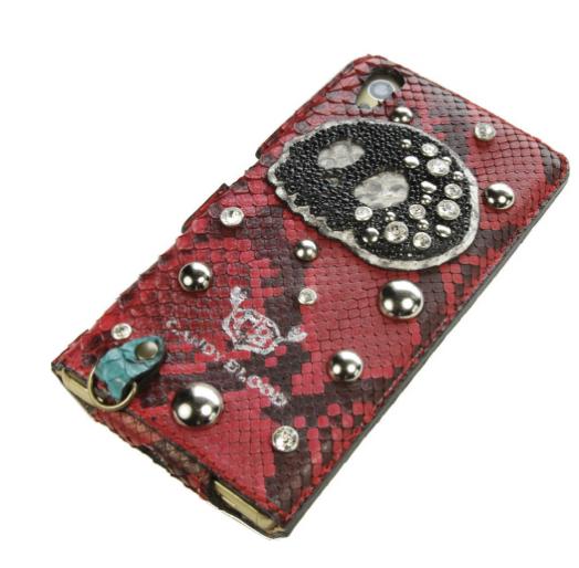 ヘビ革とエイ革の特注iPhoneケース