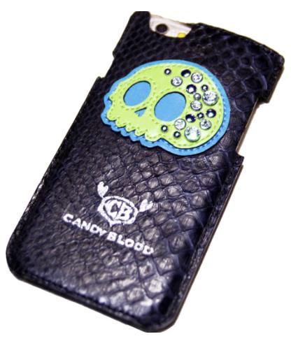 蛇革のスカルiPhoneケース